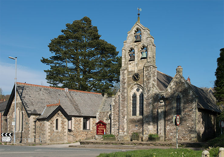 Holy Trinity Church and church hall, Tresillian. Photo: © Keith Littlejohns