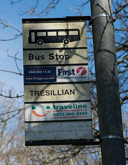 Bus Stop Tresillian Village © Keith Littlejohns